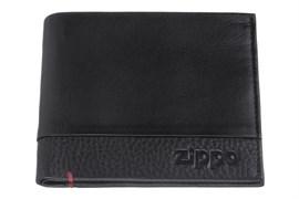 Портмоне Zippo, с защитой от сканирования Rfid, натуральная кожа, 2006022
