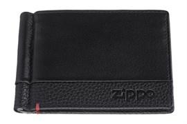 Зажим для денег Zippo, с защитой от сканирования Rfid, натуральная кожа, 2006025