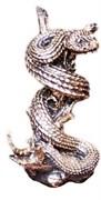 Фигурка декоративная Змея на ветке (золото), L8W10H16 см