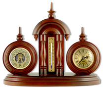 Настольные часы с термометром и барометром Н-3-Б