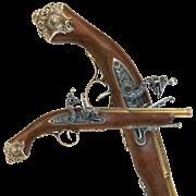 Пистоль ударный 18 века DE-1077-L