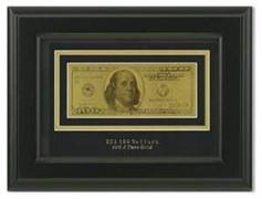 Картина с банкнотой 100$ HB-077