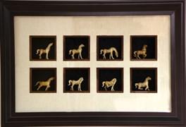 Картина по фен-шуй 8 лошадей успеха XMS-6132-B