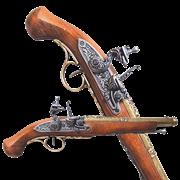 Пистоль системы флинтлок 18 века DE-1102-L