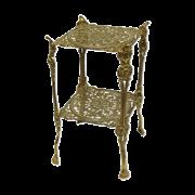 Столик квадратный 24х46 см, с двумя полками AL-82-294