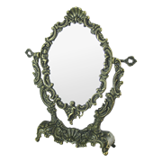Зеркало Ракушка настольное, под бронзу AL-82-175-ANT