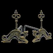Дровница Драконы, под бронзу AL-82-067-ANT