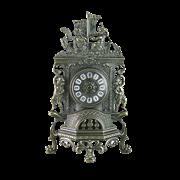Часы Ангелы каминные фасадные, под бронзу AL-82-101-ANT