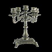 Канделябр Венеция на 5 свечей малый, бронза AL-80-411-ANT