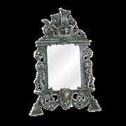 Зеркало настольное Ангелы под бронзу AL-82-327-ANT