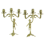 Канделябр Амур на 3 свечи, пара AL-80-326