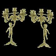 Подсвечники Амур, пара  на 5 свечей AL-80-326-5