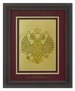 Картина с гербом РФна красном фоне HB-204