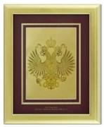 Картина с гербом РФ на красном фоне HB-204-G