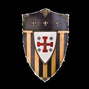 Щит геральдический большой рыцарей  Ордена Святого Гроба Господнего Иерусалимского AG-875
