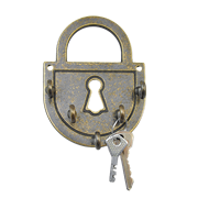 Ключница Замок амбарный антик AL-80-304-ANT