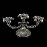 Канделябр Цветок на 3 свечи антик AL-80-379-ANT