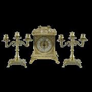 Часы Ларец каминные, 2 канделябра на 3 свечи AL-82-108-A