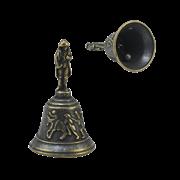 Колокольчик настольный Бонапарт, малый антик AL-82-246-ANT