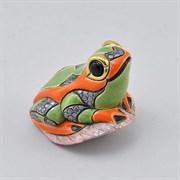 Статуэтка керамическая Лягушка на листе DR-F-160