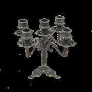 Подсвечник Трилистник 5 свечей, антик AL-80-324-5-ANT