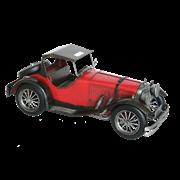 Модель ретро-автомобиля красный с черным верхом RD-1204-E-3035