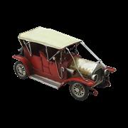 Модель ретро-автомобиля красный с белым верхом RD-1110-A-4511