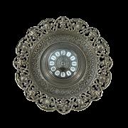 Часы-блюдо в рамке Барокко, антик AL-82-104-ANT