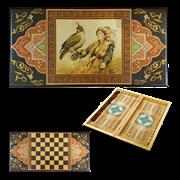 Нарды в деревянной коробке Соколиная охота SA-SO-M