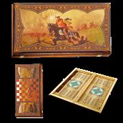 Нарды в деревянной коробке Гусарские SA-GU-M