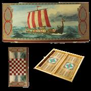 Нарды в деревянной коробке Викинги SA-VI-M