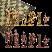 Шахматы металлические эксклюзивные  Греко-Романский Период MP-S-11-C-44-BRO