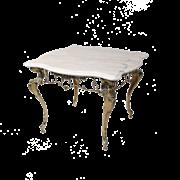 Столик Бикош малый с мраморной столешницей, золото BP-50202-D
