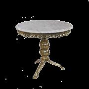 Столик Редонда большой с мраморной столешницей, золото BP-50204-D