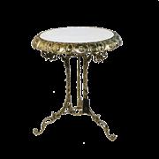 Столик малый с мраморной столешницей, золото BP-50205-D