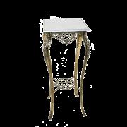 Столик Порту высокий  с мраморной столешницей, золото BP-50212-D