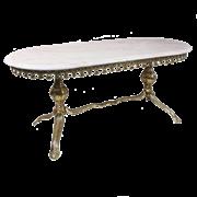Столик овальный низкий с мраморной столешницей, золото BP-50215-D