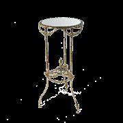 Столик круглый  высокий с зеркальной столешницей, золото BP-50217-D