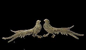 Статуэтка Фазаны пара, золото BP-12002-D