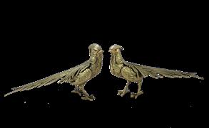 Статуэтка Фазаны пара, золото BP-12010-D