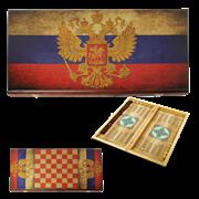 Нарды в деревянной коробке Россия SA-RU-S