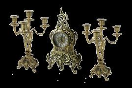 Каминные часы с канделябрами Тюильри BP-25090