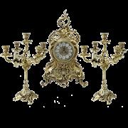 Каминные часы с канделябрами  Лимож BP-95620