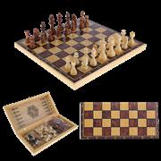 Набор игр шахматы нарды, шашки с доской Классика SA-SH-014