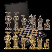 Шахматный набор Рыцари Средневековья MP-S-12-44-BLU