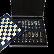 Шахматы металлические эксклюзивные  Греко-Романский Период MP-S-11-B-44-BLU
