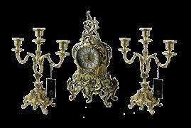 Часы каминные с канделябрами Дон Луиш, золото BP-25050-D