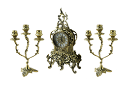Каминные часы с канделябрами  Боско BP-25046