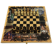 Набор игр шахматы нарды, шашки с доской Россия и Америка SA-SH-024