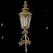 Фонарь садовый на треноге, для свечи,  золотая патина FY-160007-F129